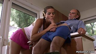 Guy Caught Most important Gf Riding Papa Big Cock
