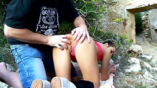 Ashley Woods has hardcore sex in the nature