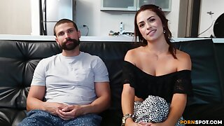 Muscled ray gives Francy a rough pussy plow outsider behind