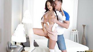 RIM4K. Crusher is surprised on touching burnish apply girlfriend