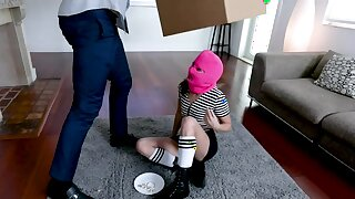 Tiny Teen Caught Stealing Has To Ride Cock